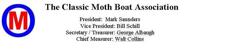 Classic Moth Boat Association Letterhead