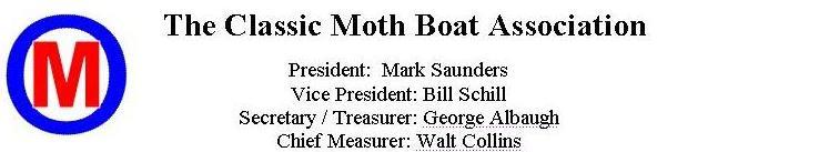 Classic Moth Boat Association Letterhead